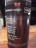 The Whisky Agency Tomatin 1966 45yo 46.1% 70cl Sherry Butt Perfect Dram with Nectar[Whisky Scotch SingleMalt]