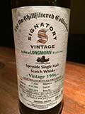 SIGNATORY The Un-Chillfiltered Collection LONGMORN 1996-17y SHERRY BUTT for LIMBURG WHISKY FAIR